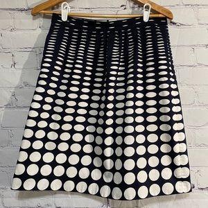 JCrew Navy and White skirt